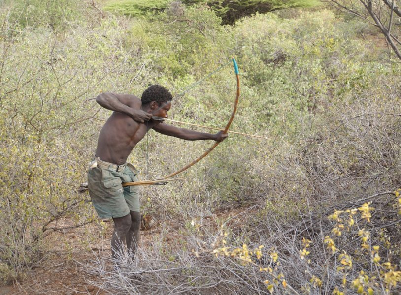 A man hunting Africa